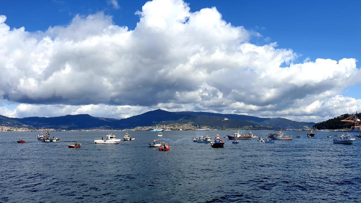 La flota concentrada en Vigo.