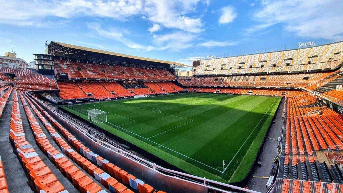 El estadio de Mestalla.
