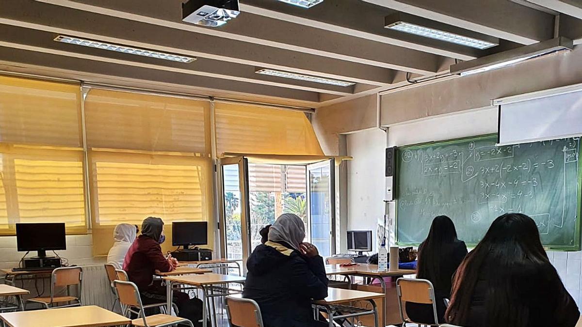Imagen tomada recientemente en un aula de un centro de la provincia.   INFORMACIÓN
