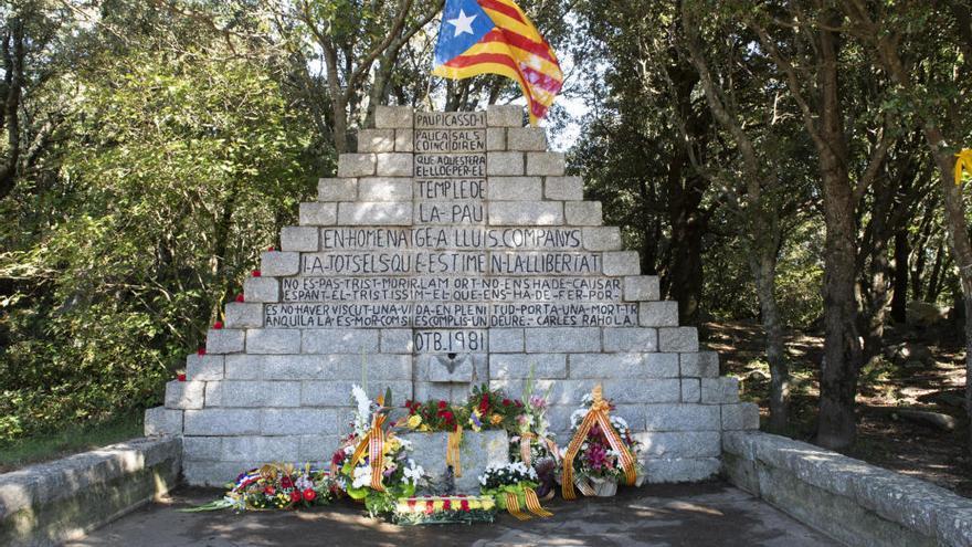La trobada al coll de Manrella recorda el president Lluís Companys des de fa 41 anys