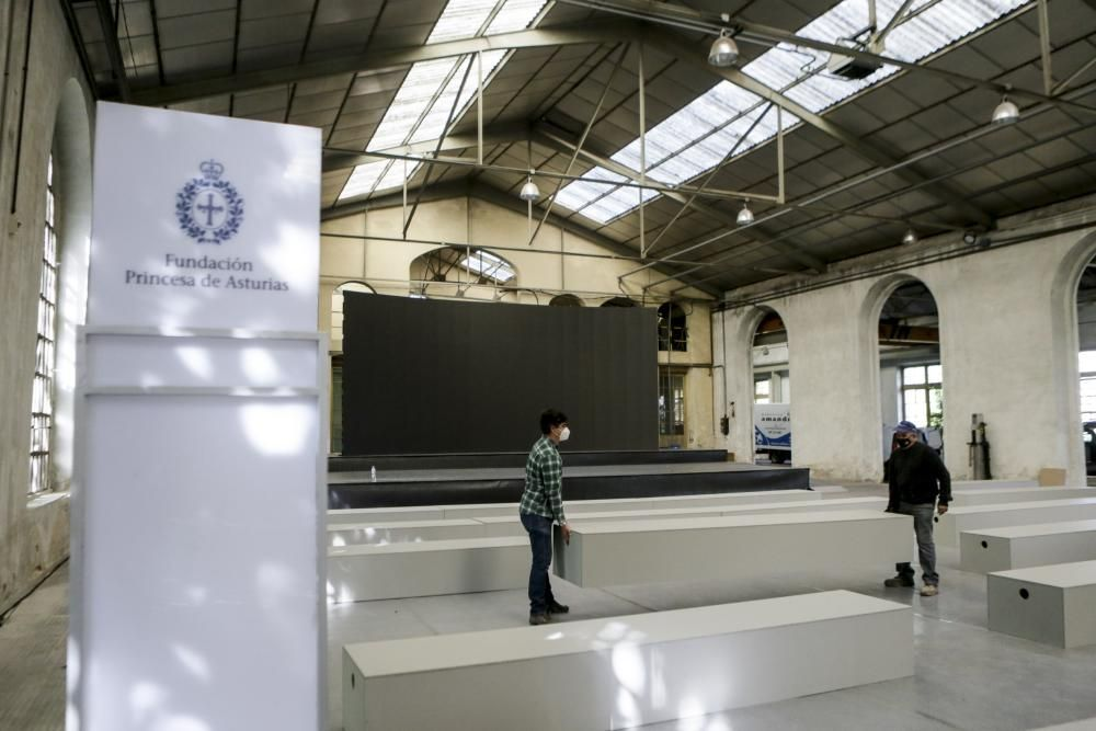 Preparativos Premios Princesa en la Fábrica de armas de La Vega