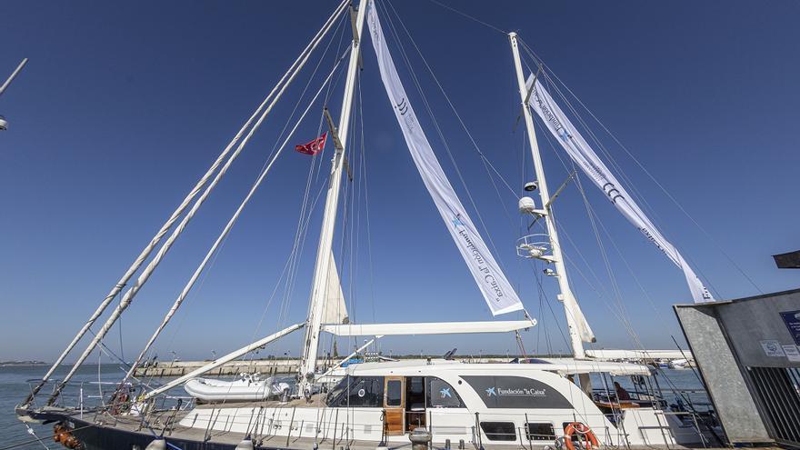 El velero Íbero III amarra en València para contar la primera vuelta al mundo desde un prisma pedagógico