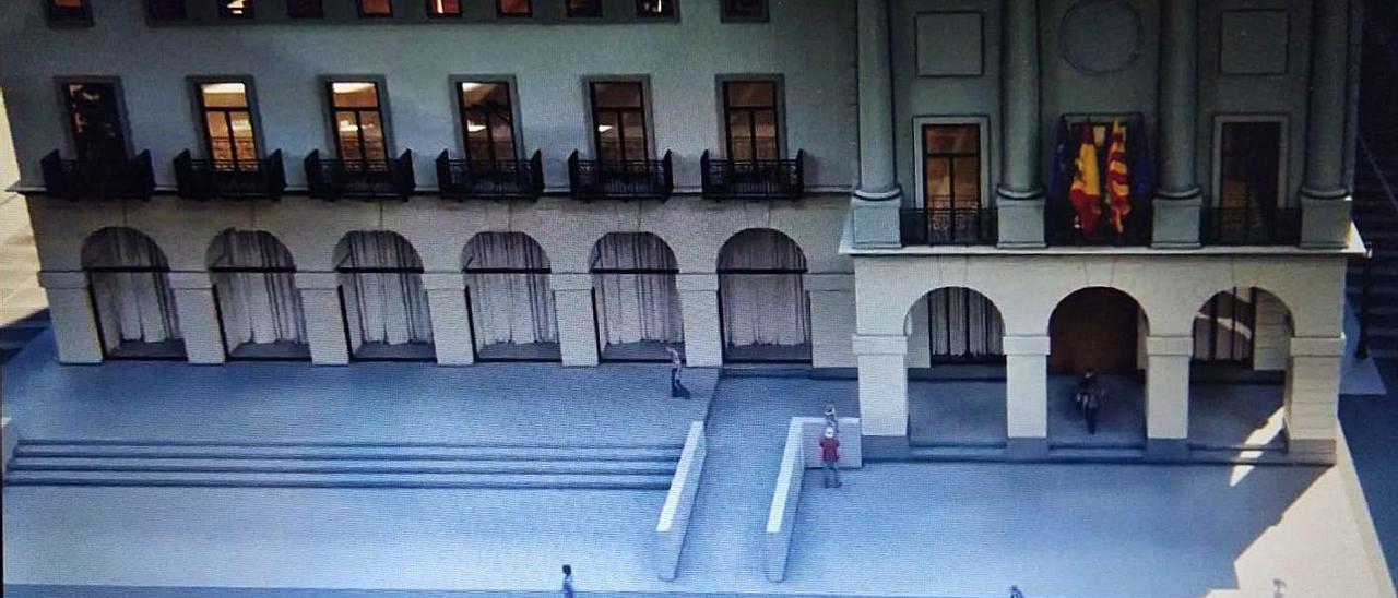 Gandia presenta la peatonalización del entorno de la plaza Major