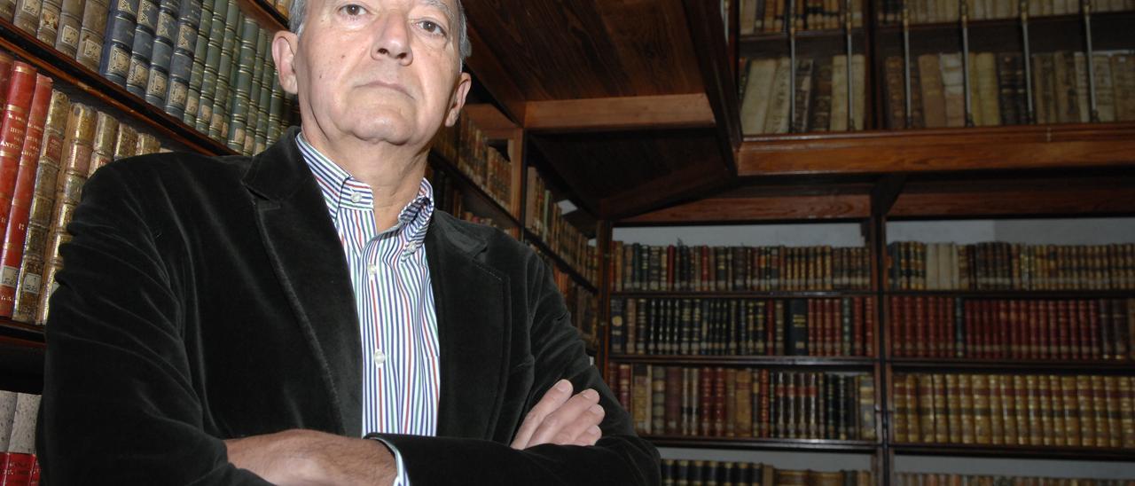 Diego López, presidente del Museo Canario, en una imagen de archivo.