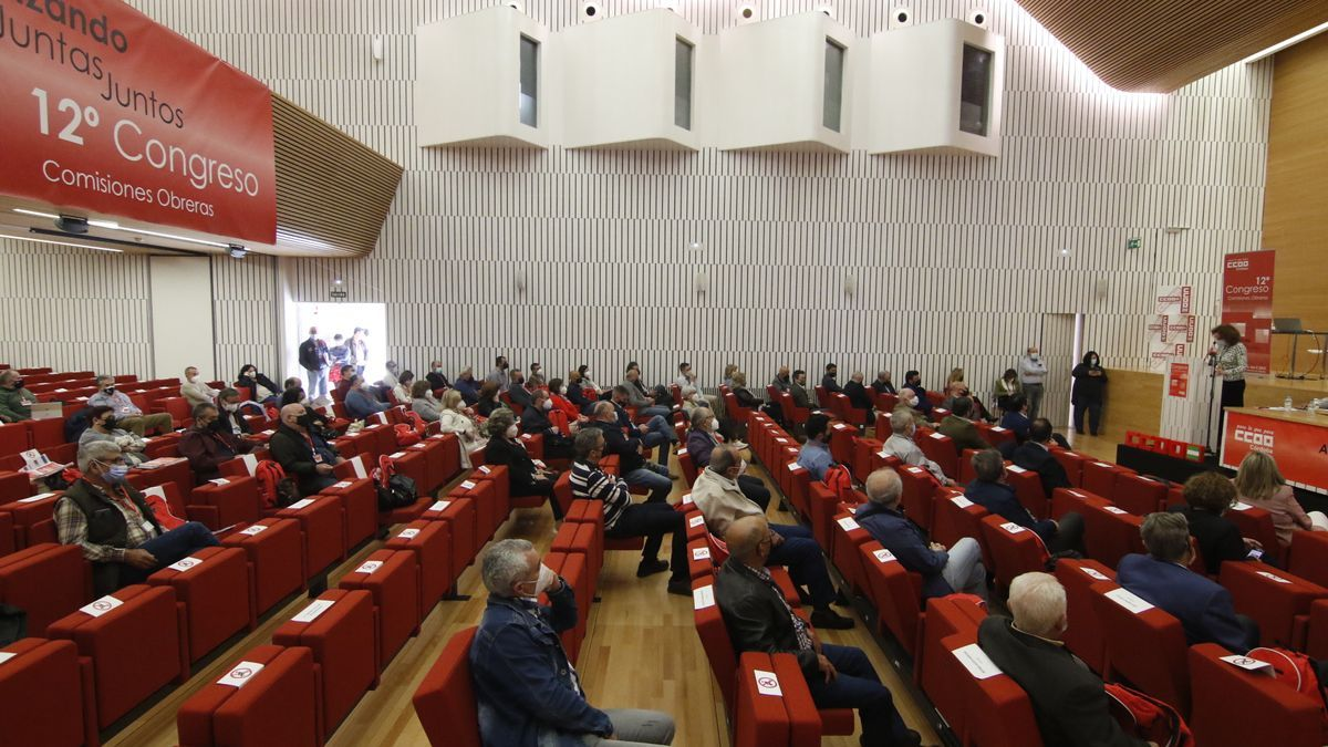 Interior del Palacio de Congresos en la calle Torrijos.