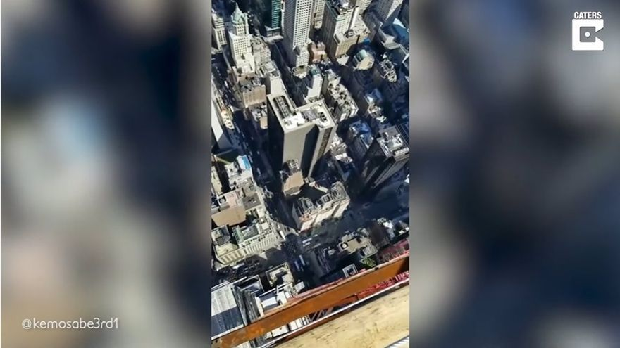 Así son las vistas de un obrero de la construcción en un rascacielos de la ciudad de Nueva York