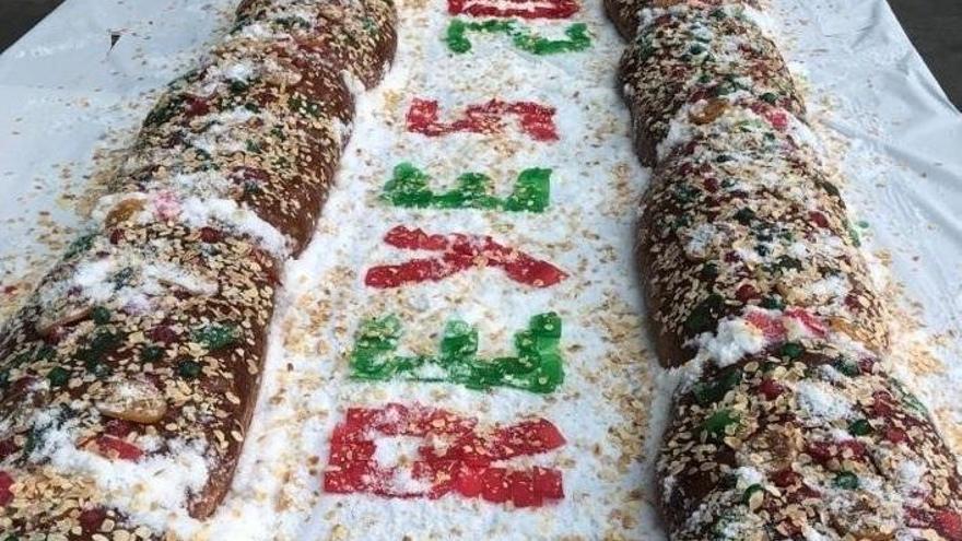Utiel presume de Roscón de Reyes gigante