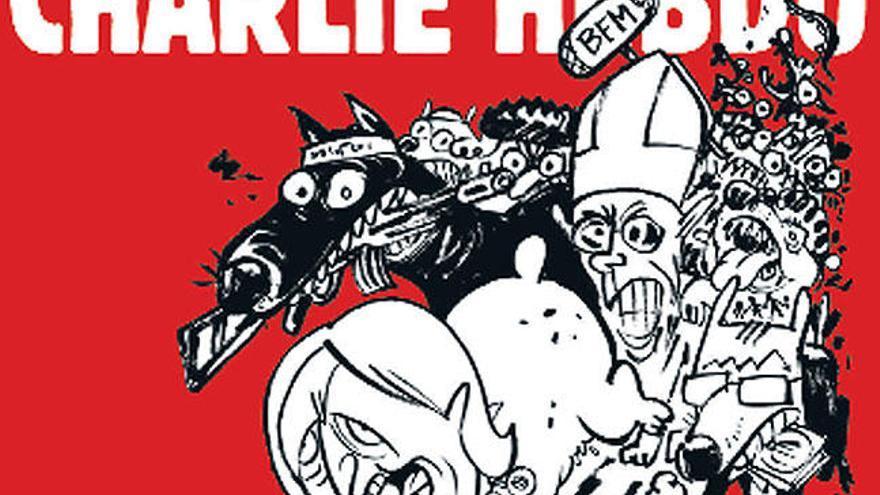 Le Pen y un yihadista, en la portada de 'Charlie Hebdo'