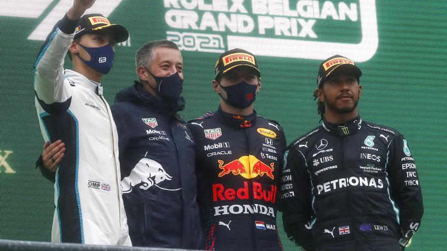 """Hamilton critica la """"farsa"""" de Bélgica y la F1 la justifica"""