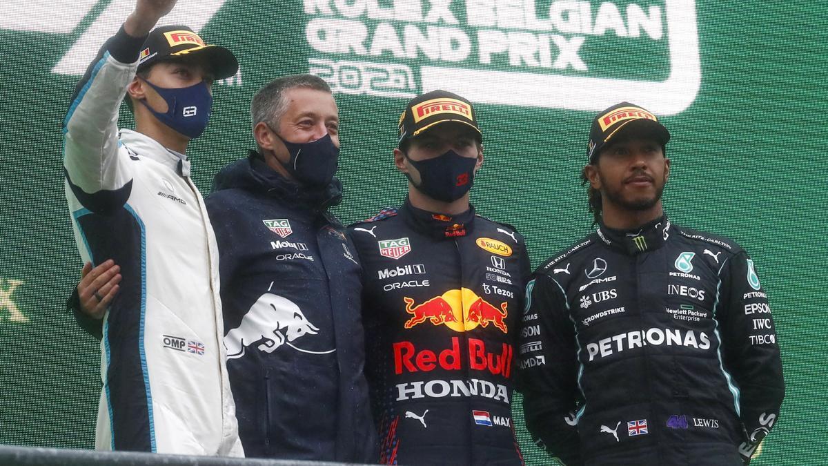La ceremonia de la corta carrera de Spa, en Bélgica.