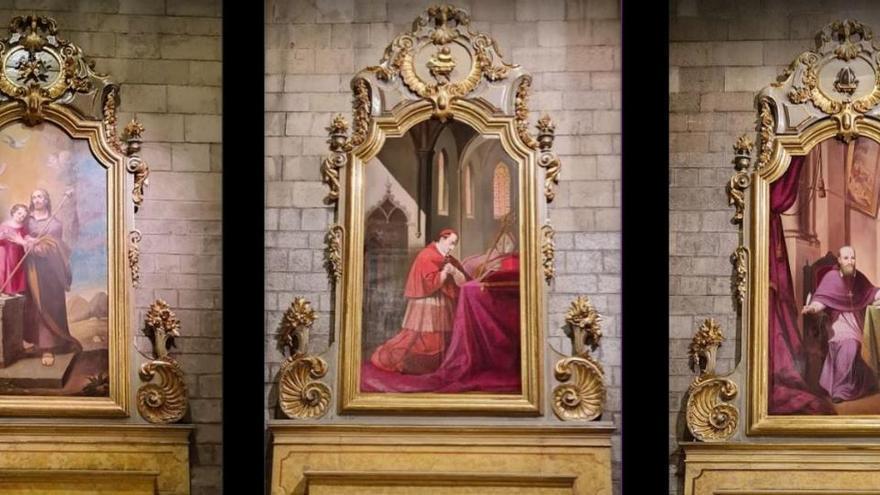 L'església del Carme acull vuit pintures donades per la Cova de Sant Ignasi