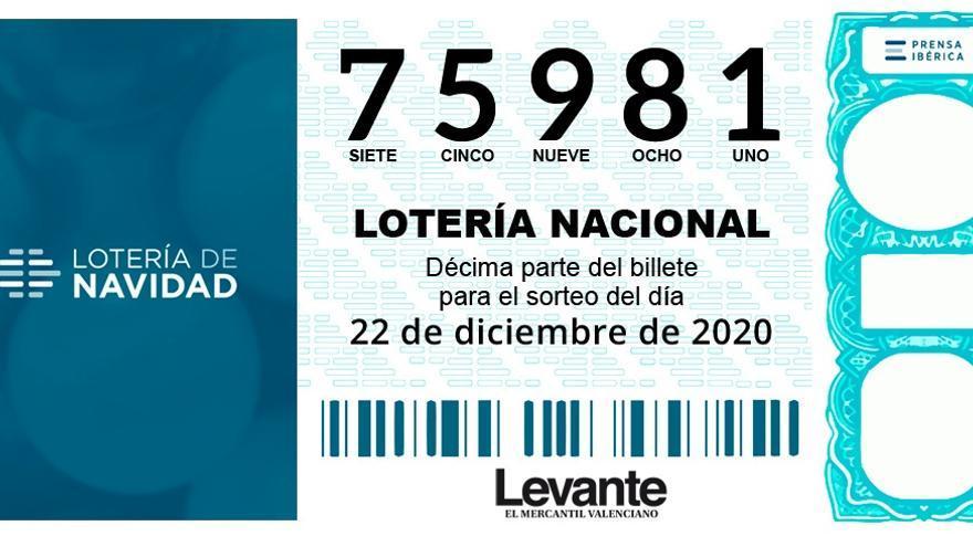 El cuarto premio entrega 60.000 euros en Valencia con el 75981
