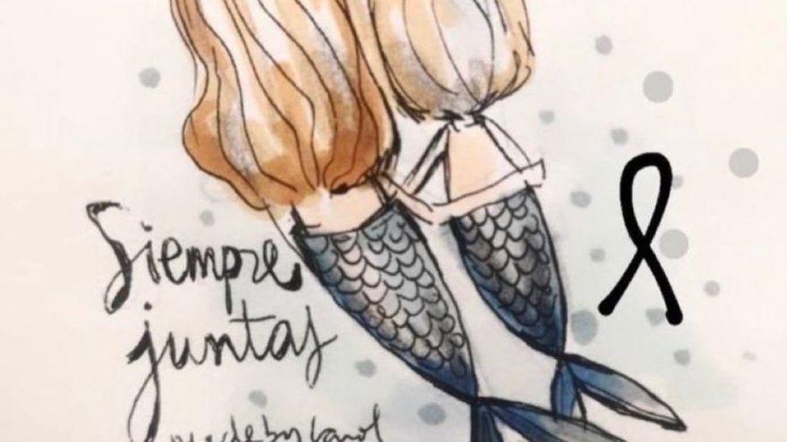 Polémica por el dibujo de las sirenas que representan a las niñas de Tenerife