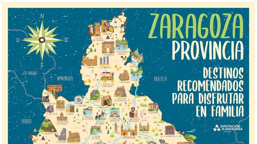 Un mapa didáctico acerca a los escolares los atractivos turísticos de la provincia de Zaragoza
