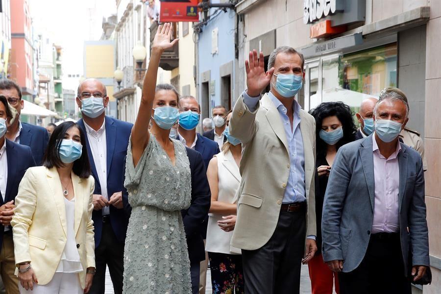 Primera visita de los Reyes de España a Canarias tras la pandemia del coronavirus