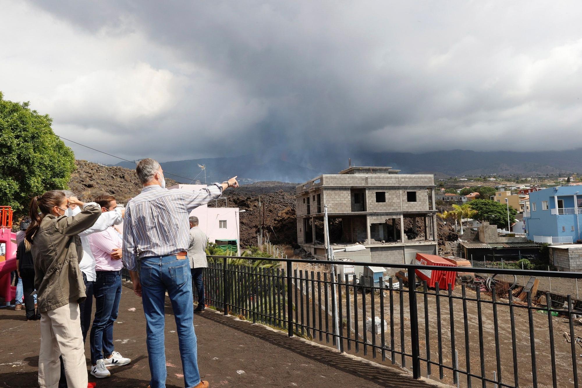 Visita de los Reyes a La Palma durante la erupción en Cumbre Vieja