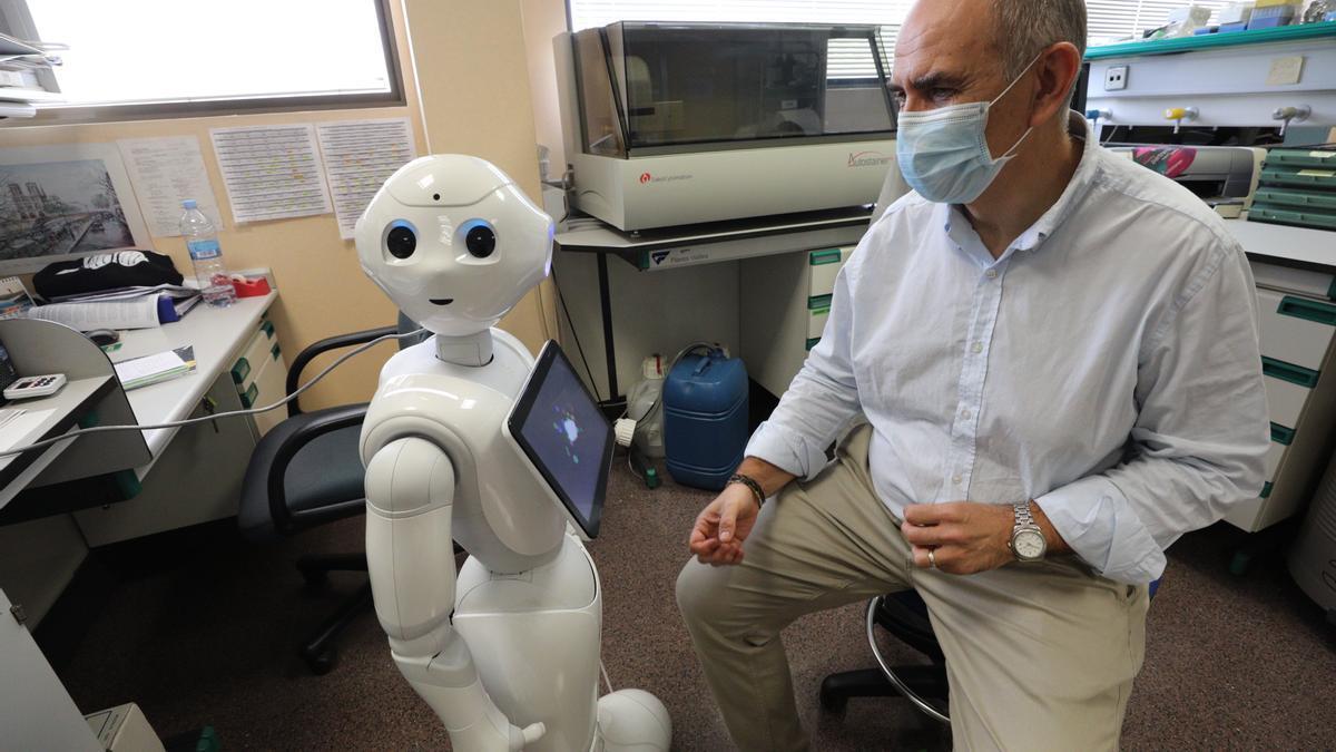 Uno de los humanoides que ofrecen asistencia a los pacientes que sufren daño cerebral.