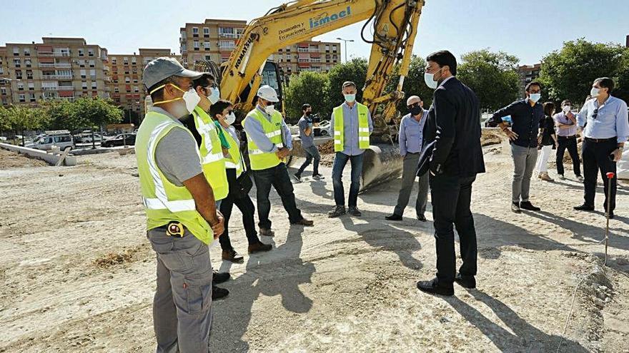 Alicante tendrá en un año un nuevo pulmón verde con la plaza de la Ciudad de la Justicia