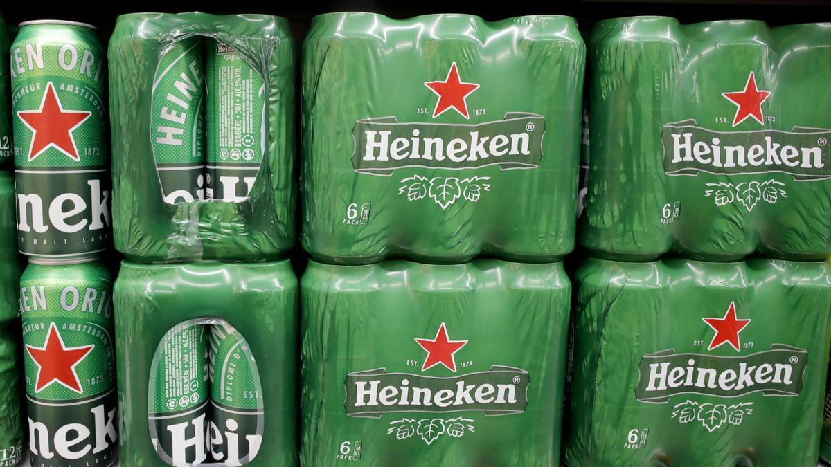 Imagen de archivo de productos Heineken.