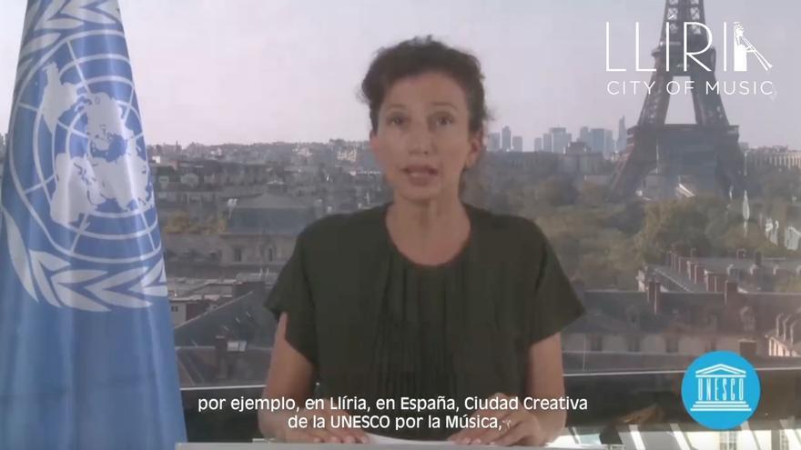 La directora general de la Unesco ensalza los músicos de Llíria