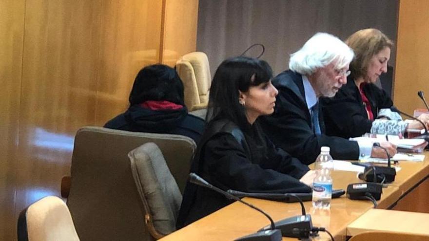 La joven que mató a su bebé en Alcalá se rompe en el juicio