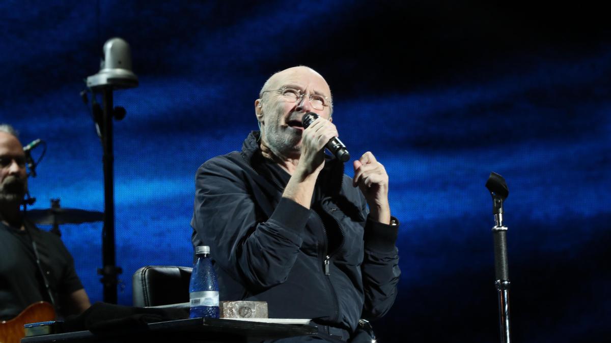 Phil Collins, durante un concierto en Montevideo en 2018.