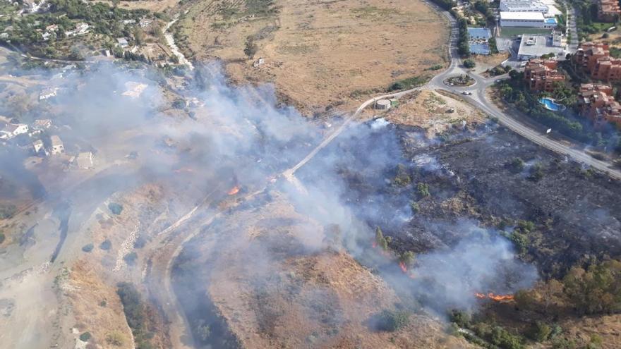 Controlado el incendio en Benahavís