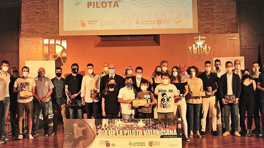 La Federació de Pilota Valenciana premia als més destacats del 2021