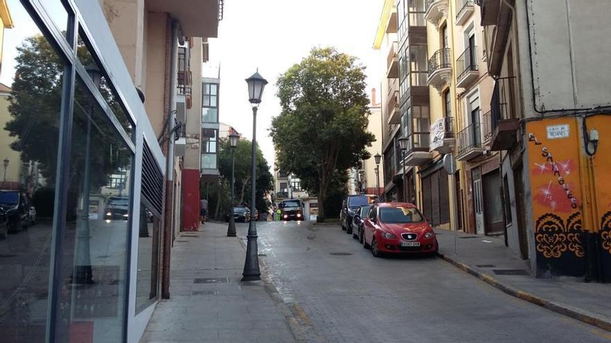Calle de Los Mesones de Zamora, esta mañana.