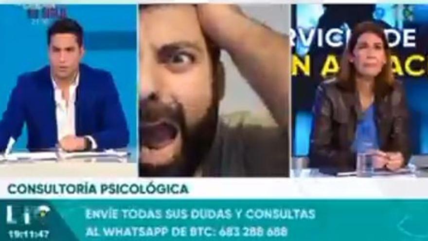 Entra en directo en Televisión Canaria y se burla de los muertos por Covid-19