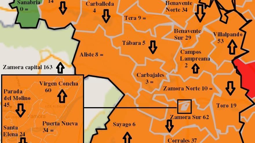 Mapa COVID: El virus, extendido por toda Zamora, excepto Alta Sanabria