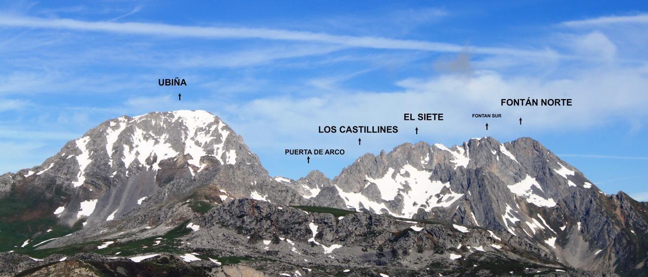 Una vista de las principales cimas del macizo de Las Ubiñas