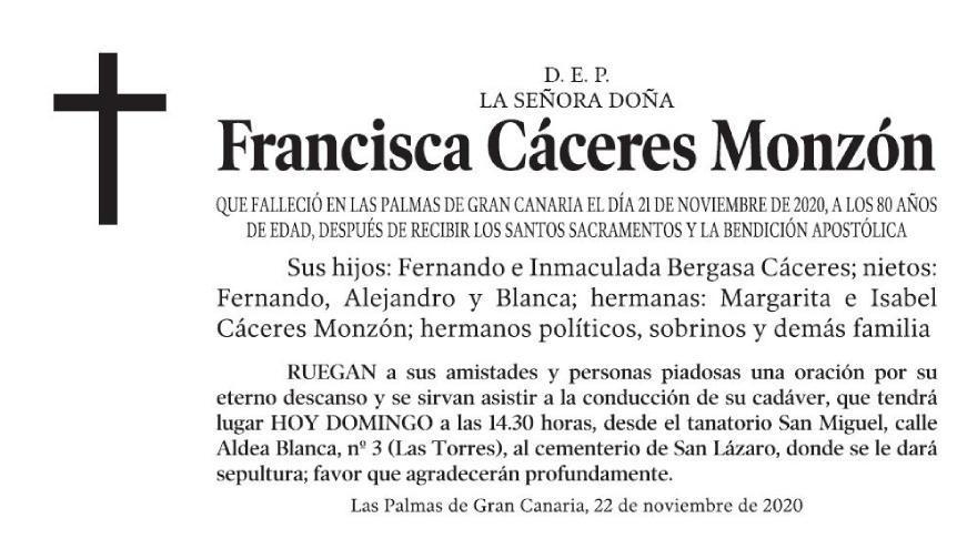 Francisca Cáceres Monzón