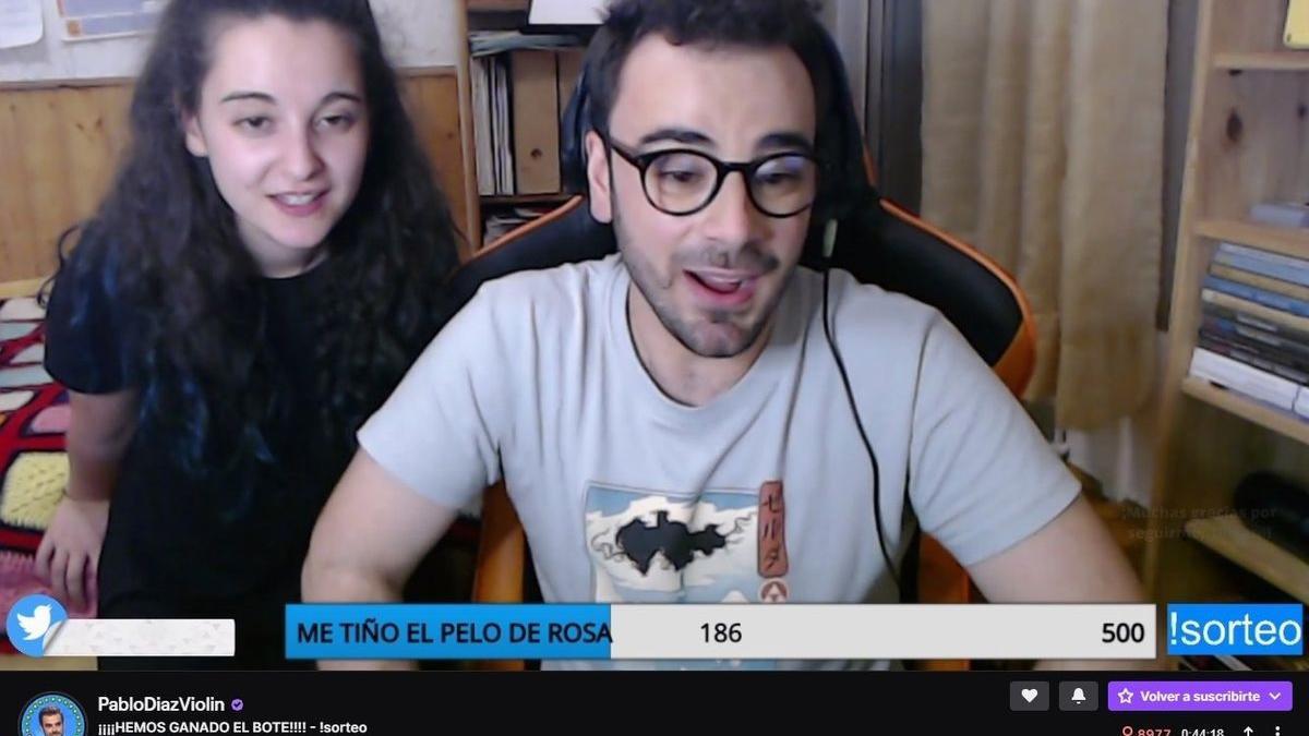 Pablo Díaz y su novia Marta