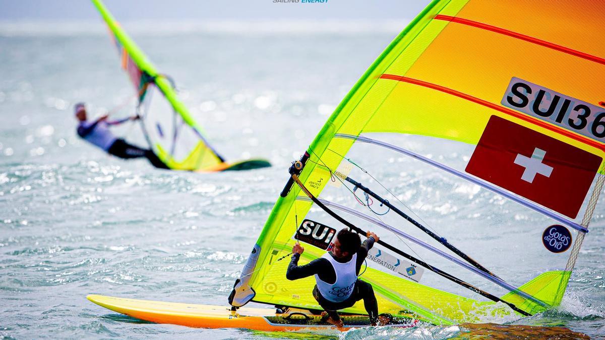 El windsurfista Mateo Sanz, en una imagen de archivo.
