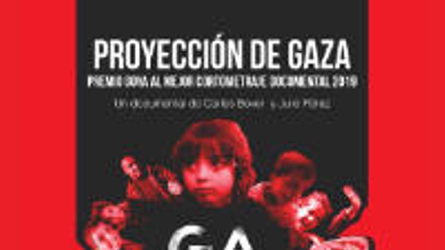 Equipo Para proyecta el documental 'Gaza', ganador de un Goya