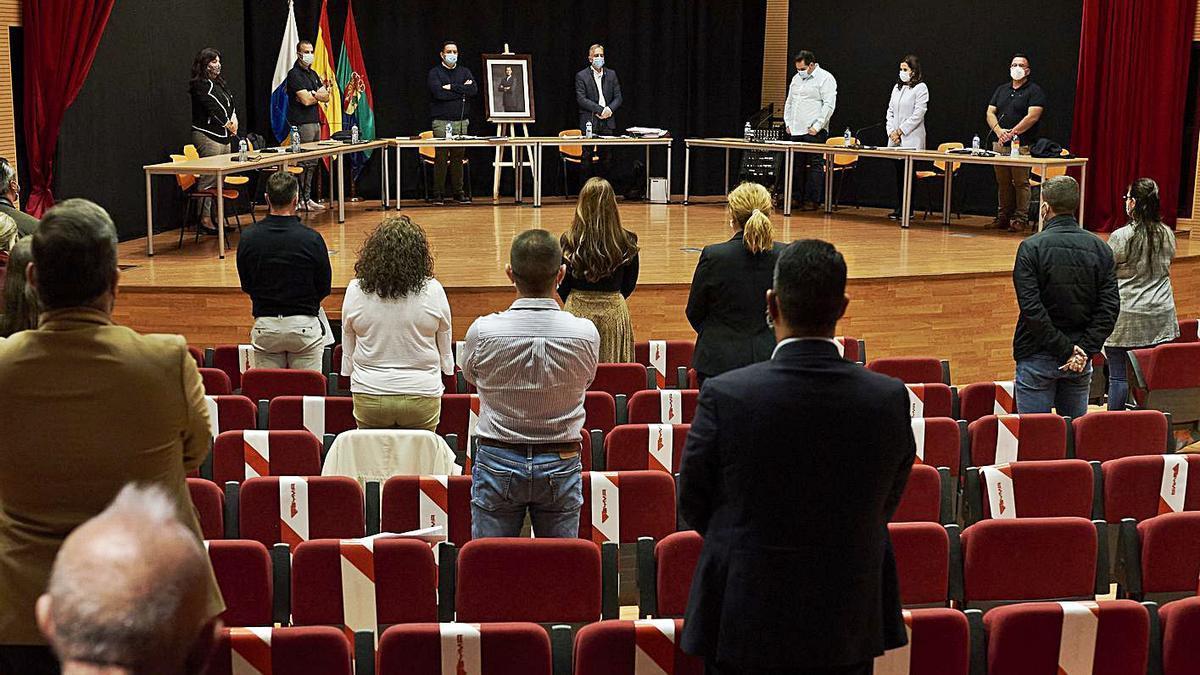 Último pleno ordinario celebrado por el Ayuntamiento de Arona, el 26 de noviembre.