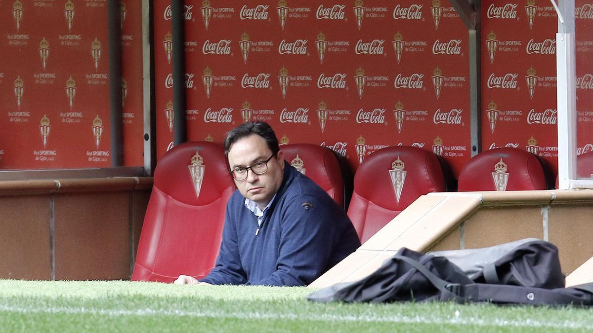 Javier Fernández, en El Molinón