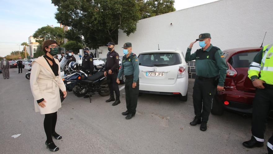 María Gámez se reúne en Alicante con los responsables de la Guardia Civil en la provincia