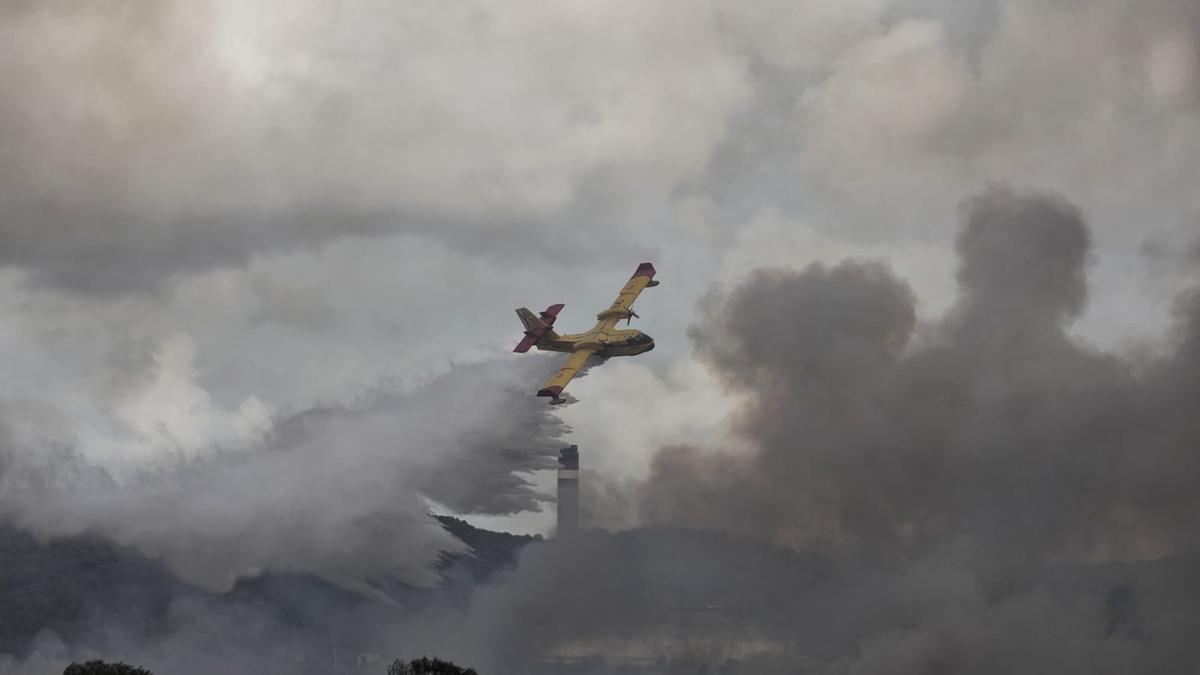avion incendio