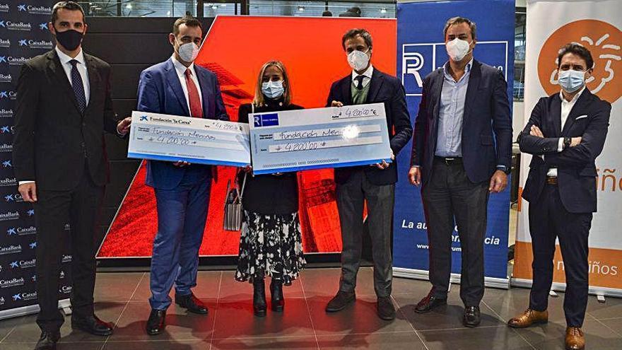 Donaciones de Pérez Rumbao y CaixaBank a entidades sociales