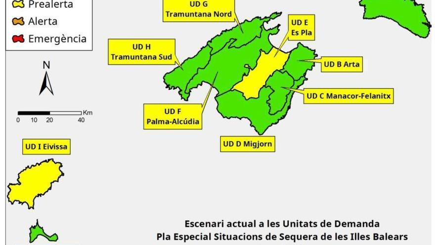 Las reservas de agua en Balears están un 18% por debajo del verano pasado