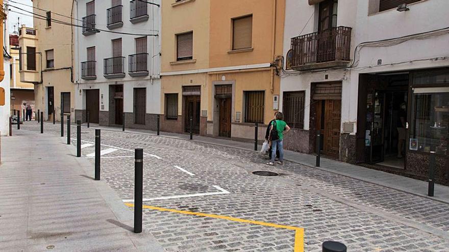 Així queda el nou carrer de Sant Vicent d'Oliva