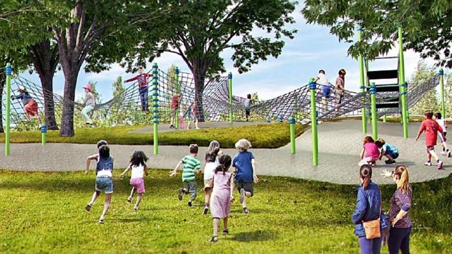 Culleredo licita la construcción de un parque de toboganes en A Corveira