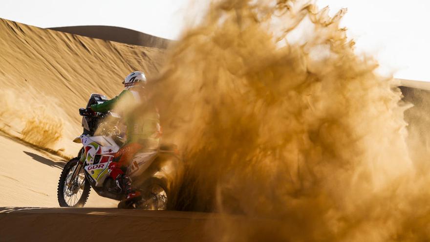 El francés Pierre Cherpin, en coma inducido tras una caída con su moto en el Dakar