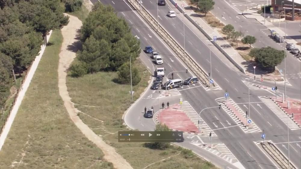 Fotos desde el helicóptero de la Policía Nacional