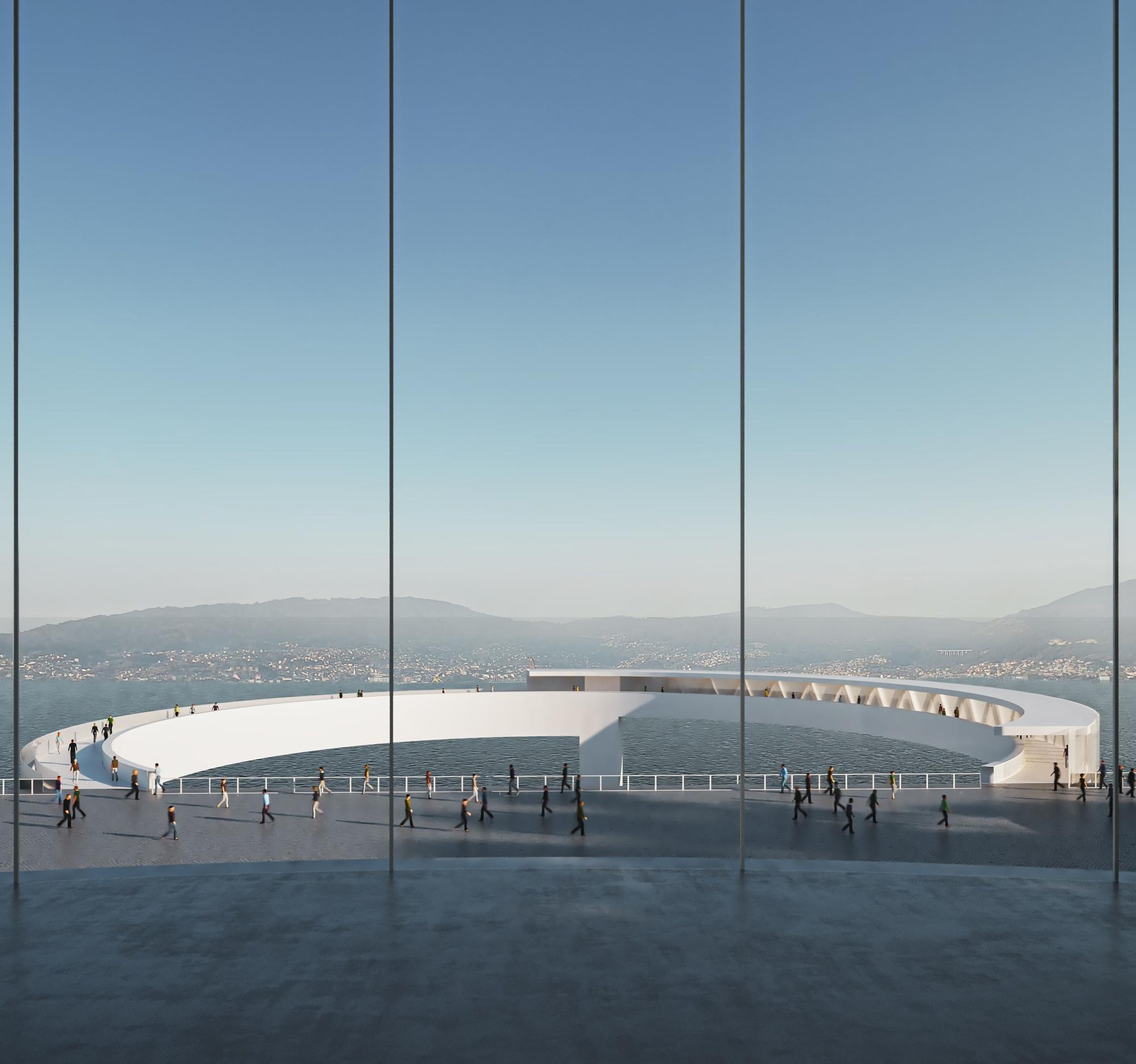 Así será el nuevo ascensor panorámico de Vigo entre García Barbón y Vialia