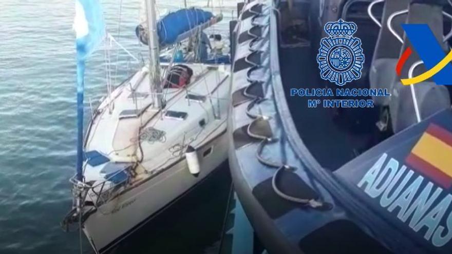 Interceptan un velero procedente del Caribe cargado de cocaína