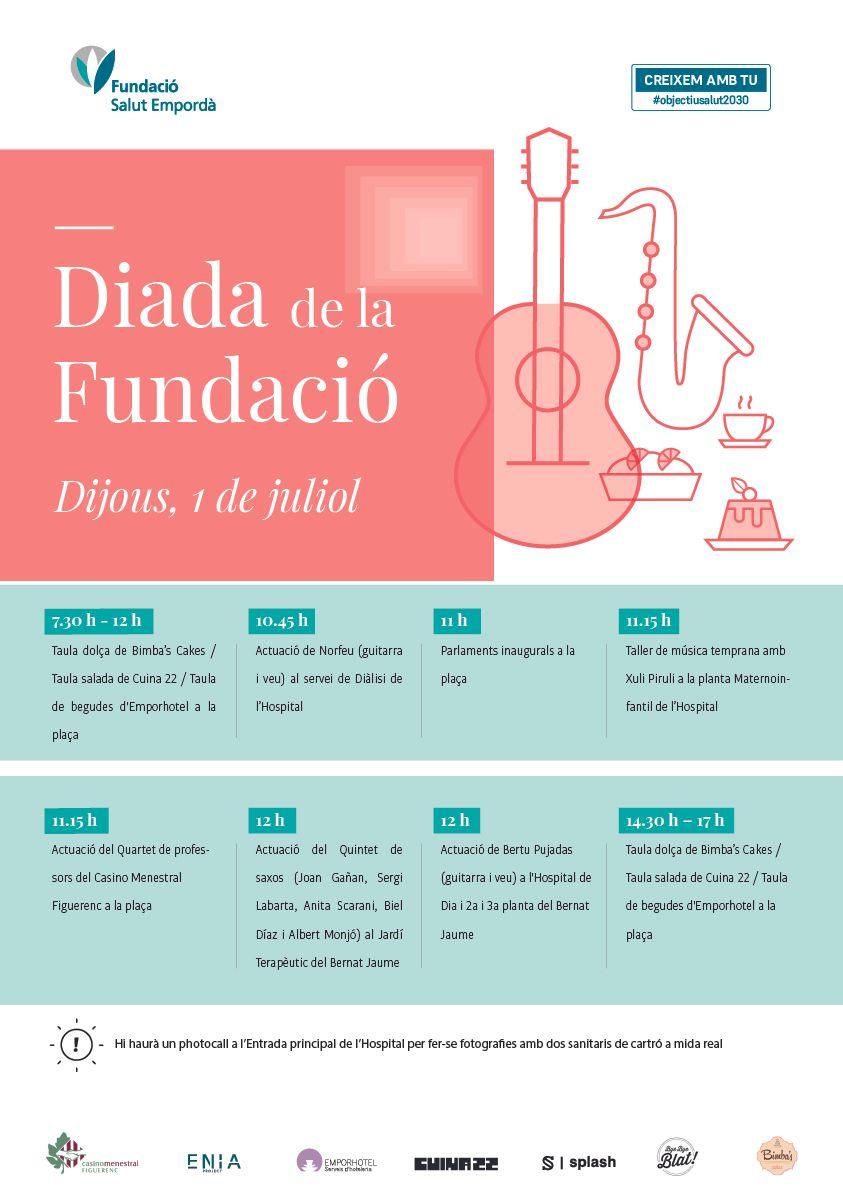 Cartell d'activitats de la Diada de la Fundació Salut Empordà