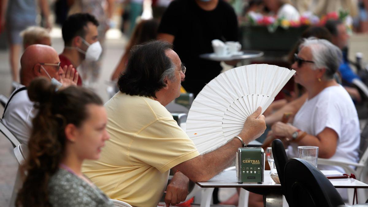 Jornada calurosa en Málaga, el lunes de la semana pasada.